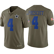 Nike Youth Home Game Salute to Service 2017 Dallas Cowboys Dak Prescott #4 Jersey