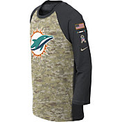 Nike Youth Miami Dolphins Salute to Service 2017 Raglan