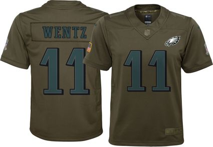 Nike Youth Home Limited Salute to Service 2017 Philadelphia Eagles Carson Wentz #11 Jersey