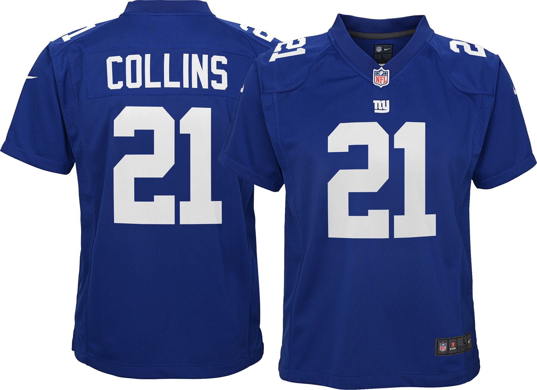 799757c95 Nike Youth Home Game Jersey New York Giants Landon Collins #21 ...