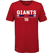 Nike Youth New York Giants Legend Staff Performance Red T-Shirt