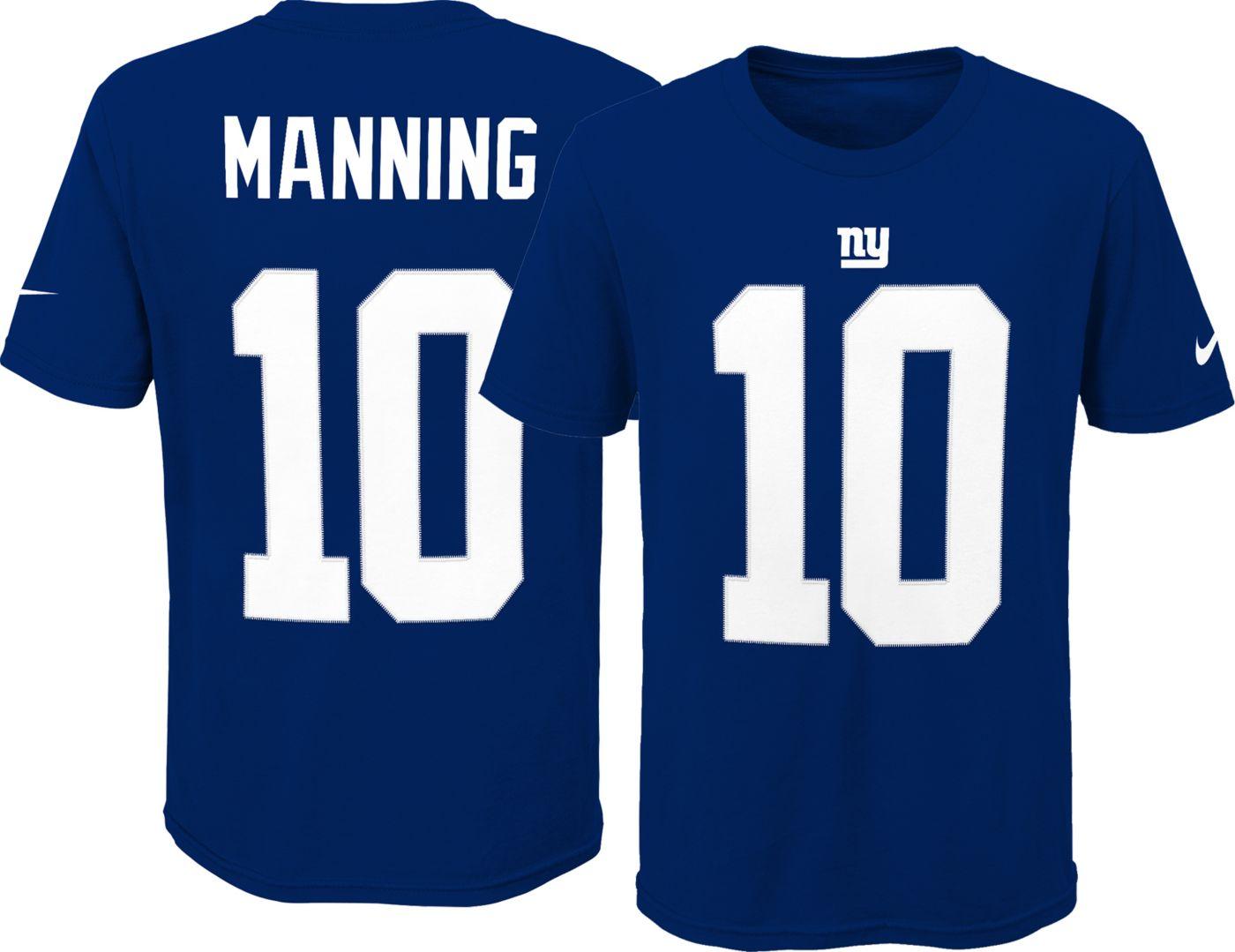 Nike Youth New York Giants Eli Manning #10 Pride Navy T-Shirt