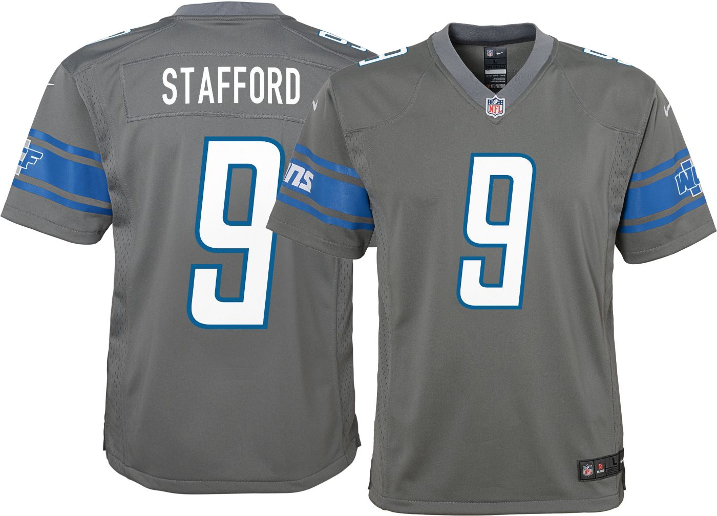 Nike Youth Color Rush Game Jersey Detroit Lions Matthew Stafford #9