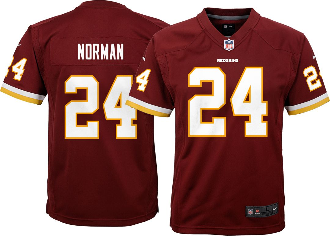 wholesale dealer 45de7 67a89 Nike Youth Home Game Jersey Washington Redskins Josh Norman #24