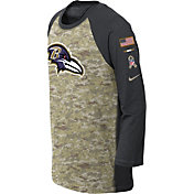 Nike Youth Baltimore Ravens Salute to Service 2017 Raglan