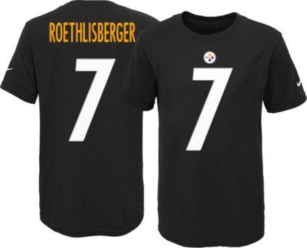 a65245ba9 Nike Youth Pittsburgh Steelers Ben Roethlisberger  7 Black T-Shirt