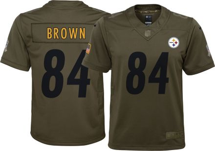 Nike Youth Home Limited Salute to Service Pittsburgh Steelers Antonio Brown   84 Jersey 7ed02a0d9