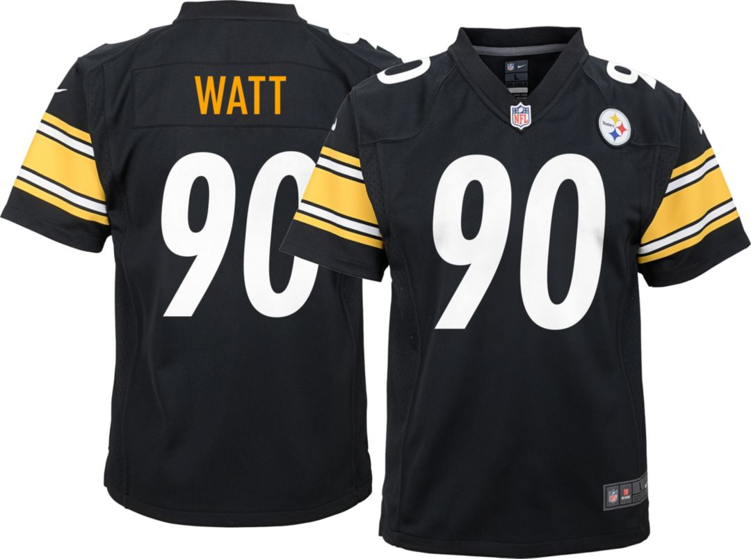 reputable site 69cfd a41b3 Nike Youth Home Game Jersey Pittsburgh Steelers T.J. Watt #90