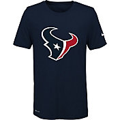 Nike Youth Houston Texans Legend Logo Navy Performance T-Shirt