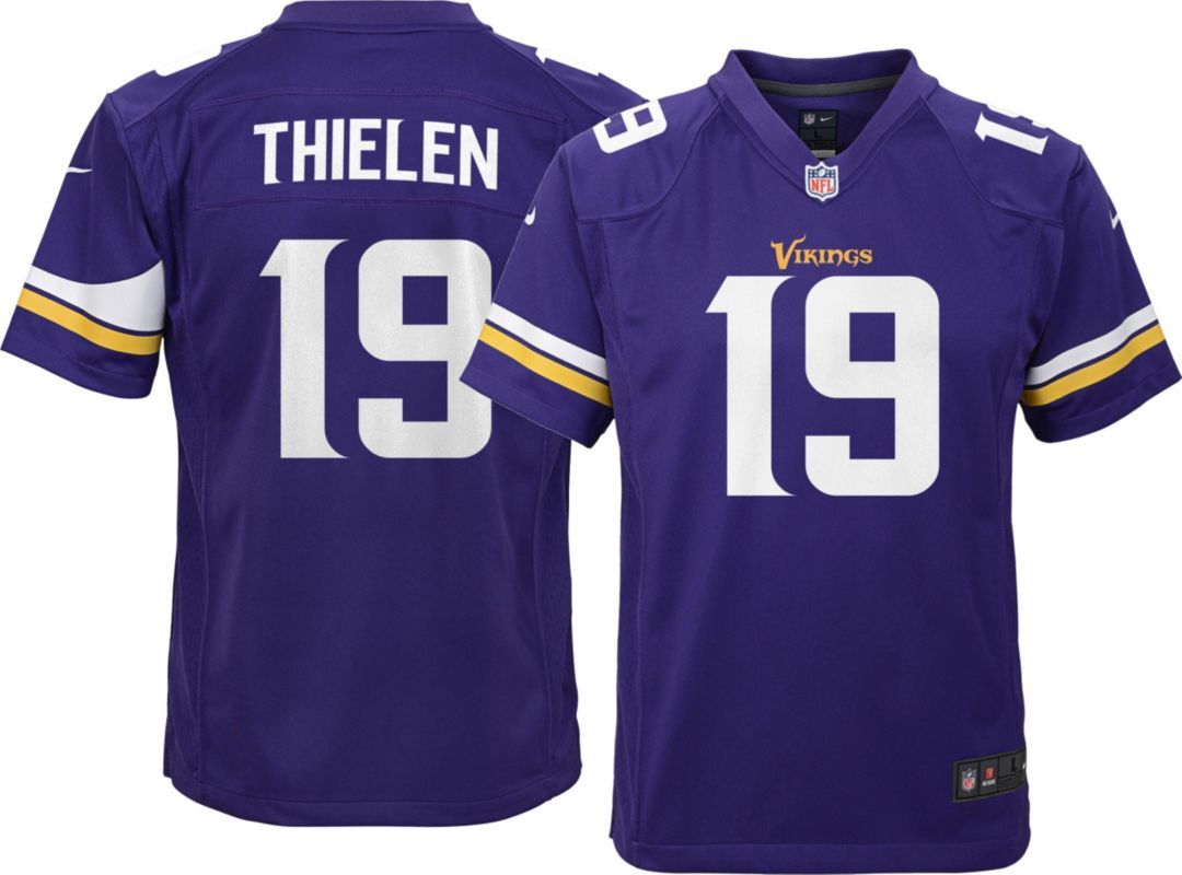 premium selection f1a6a b87ea Nike Youth Home Game Jersey Minnesota Vikings Adam Thielen #19