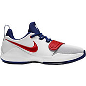 fa7f1d988cd7 Product Image · Nike Kids  Grade School PG 1 Basketball Shoes · White Red
