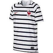 Nike Youth 2018 FIFA World Cup France White Striped Training Top