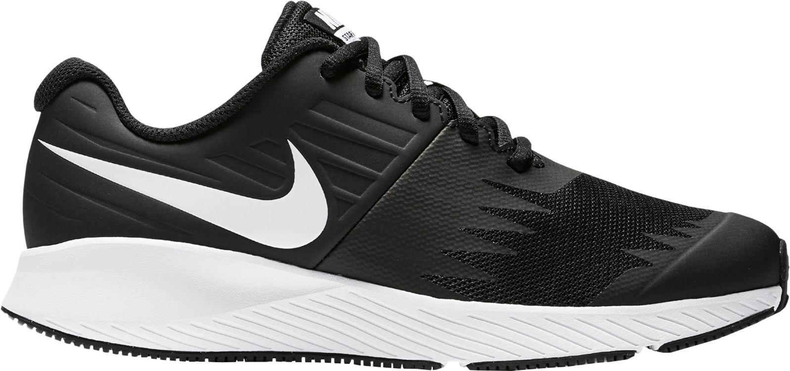 Nike Kids' Grade School Star Runner Running Shoes (7, Black/White)