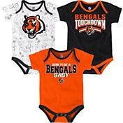 NFL Team Apparel Infant Cincinnati Bengals Playmaker 3-Piece Onesie Set