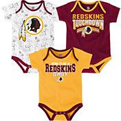 NFL Team Apparel Infant Washington Redskins Playmaker 3-Piece Onesie Set