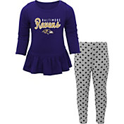 NFL Team Apparel Infant Girls' Baltimore Ravens Pants/Top Set
