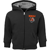 NFL Team Apparel Toddler Cincinnati Bengals Red Zone Full-Zip Hoodie