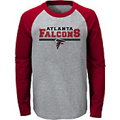 NFL Team Apparel Youth Atlanta Falcons Field Line Long Sleeve T-Shirt