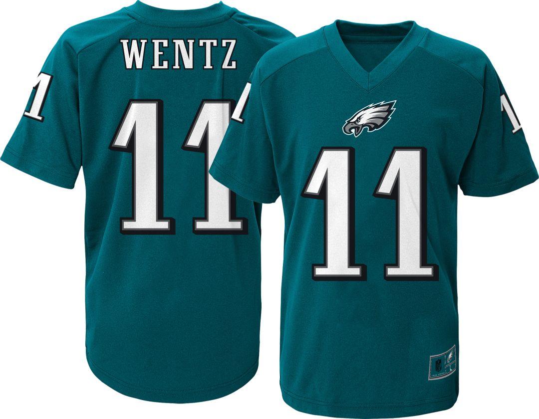 huge discount d3edb 33269 NFL Team Apparel Youth Philadelphia Eagles Carson Wentz #11 Green  Performance T-Shirt
