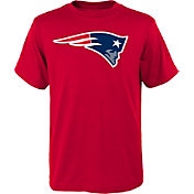 NFL Team Apparel Youth New England Patriots Logo Red T-Shirt