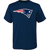 NFL Team Apparel Youth New England Patriots Logo Navy T-Shirt