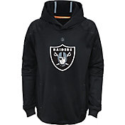 NFL Team Apparel Youth Oakland Raiders Mach Pullover Hoodie