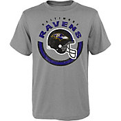 NFL Team Apparel Youth Baltimore Ravens Cannon Grey T-Shirt