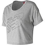 New Balance Women's Athletics Cropped T-Shirt