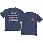 New World Graphics Men's Auburn Tigers Blue 'The Truth About Auburn' T-Shirt