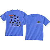 New World Graphics Men's Florida Gators Blue Food Chain T-Shirt