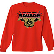 New World Graphics Men's Georgia Bulldogs Red Savage Long Sleeve T-Shirt