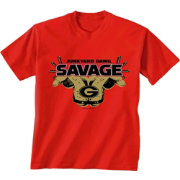 New World Graphics Men's Georgia Bulldogs Red 'Savage' Football T-Shirt