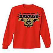 New World Graphics Youth Georgia Bulldogs Red Savage Long Sleeve T-Shirt