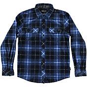O'Neill Boys' Glacier Fleece Plaid Long Sleeve Shirt