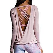 Onzie Women's Drapey V-Back Long Sleeve Top