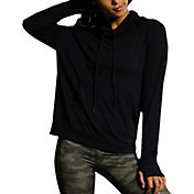 Onzie Women's Black Tulip Back Cowl Neck Sweatshirt