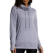 Onzie Women's Stone Tulip Back Cowl Neck Sweatshirt
