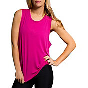 Onzie Women's Twist Back Summer Rose Tank Top