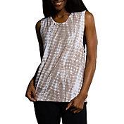 Onzie Women's Twist Back Tan Tie Dye Tank Top