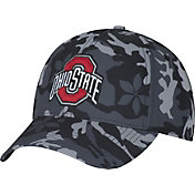 OSU Men's Ohio State Buckeyes Gray Camo Cover Snap Hat