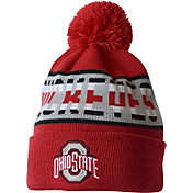 OSU Men's Ohio State Buckeyes Scarlet/Gray Strength Cuffed Knit Beanie