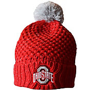 OSU Women's Ohio State Buckeyes Scarlet Defend 'til the End Cuffed Knit Beanie
