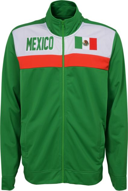 eabe2887ca4 Outerstuff Men s Mexico Green Track Jacket
