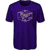 adidas Youth Orlando City Hex Camo Purple T-Shirt