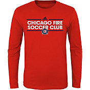 adidas Youth Chicago Fire Dassler Red Long Sleeve Shirt