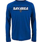 adidas Youth San Jose Erathquakes Dassler City Long Sleeve Blue Long Sleeve Shirt