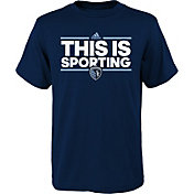 adidas Youth Sporting Kansas City Local Dassler Navy T-Shirt