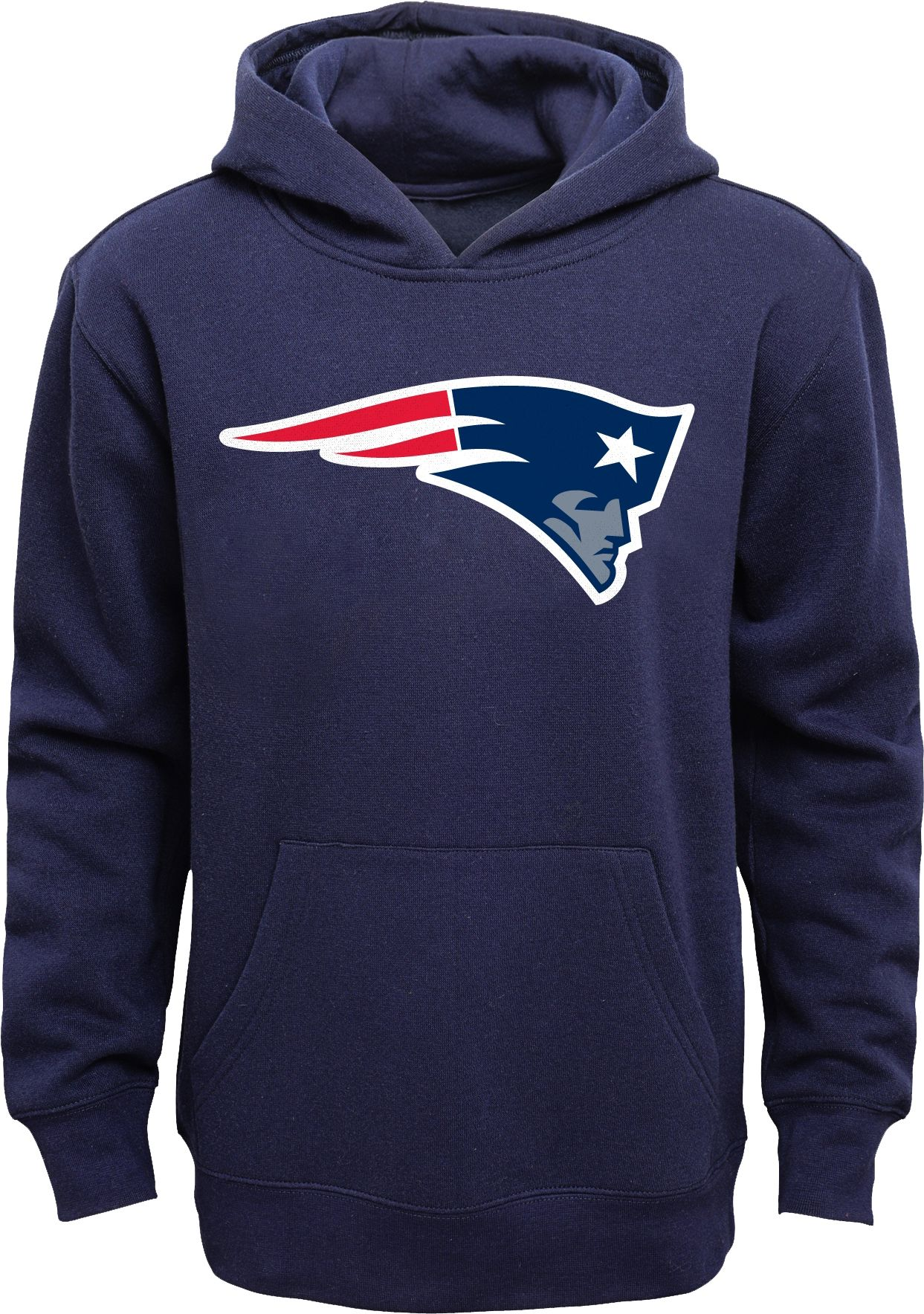 Nfl Team Apparel Youth New England Patriots Logo Navy Hoodie