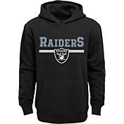 NFL Team Apparel Youth Oakland Raiders MVP Black Pullover Hoodie