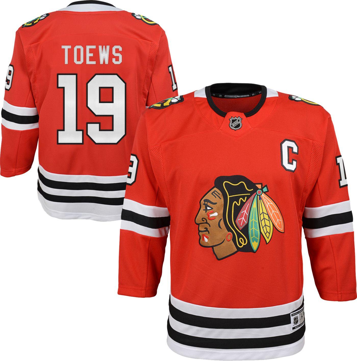 NHL Youth Chicago Blackhawks Jonathan Toews #19 Premier Home Jersey